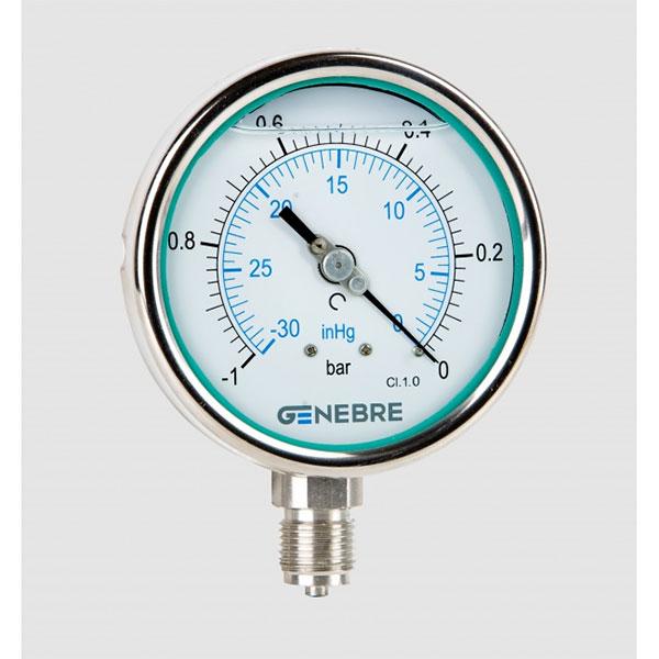 Đồng hồ đo áp suất âm Genebre Model 8011