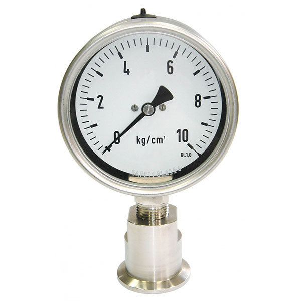Đồng hồ đo áp suất nối clamp New Flow Model DT106